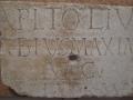 Museo Archeologico-V Sala. Epigrafe restauro del Capitolium (352-357).JPG