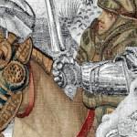 Arazzo della battaglia di Pavia. Manifattura di Bruxelles Lana, seta, argento e oro Napoli. Museo di Capodimonte Collocazione: Sala 62 Secondo Piano