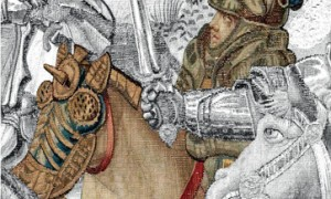 Arazzo della battaglia di Pavia. Manifattura di Bruxelles Lana, seta, argento e oro. Napoli. Museo di Capodimonte. Collocazione: Sala 62 Secondo Piano