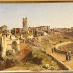 Vasto (Ch), Palazzo D'Avalos, collezione Palizzi. N. Palizzi, Melfi dopo il terremoto del 14 Aprile 1832 - Olio su tela - 36,5x54,5 - Vasto, Pinacoteca