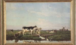 Opere della Pinacoteca Palizzi in una importante mostra a Pescara - F. Palizzi, Olanda (1855). Olio su tela - 49,5x77,5 - Vasto, Pinacoteca.