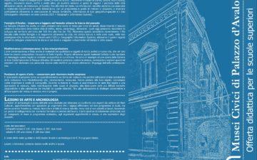 Musei Civici di Palazzo d'Avalos. Offerta Didattica per le scuole superiori